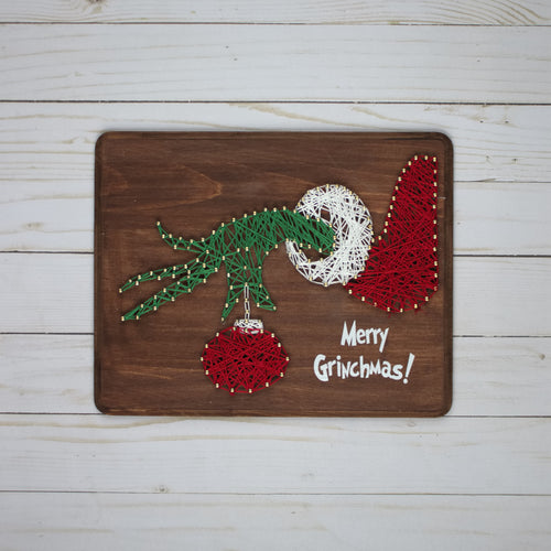 Grinchmas String Art Project
