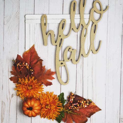Hello Fall Frame Wreath