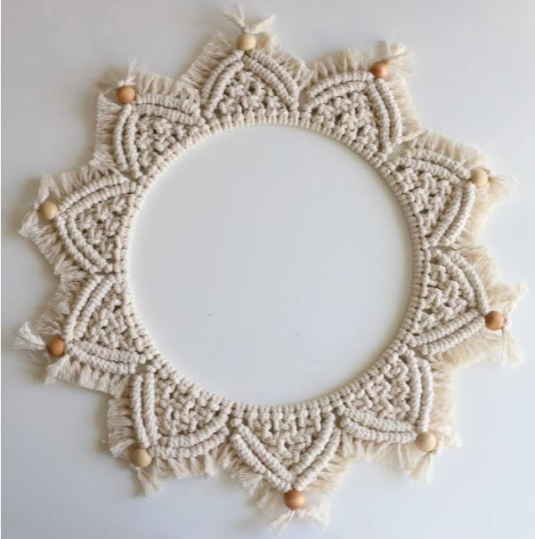 This Month's Project: Macrame Mandala Wall Hanging