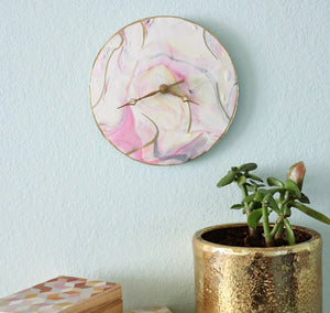 DIY Clay Marbled Clock