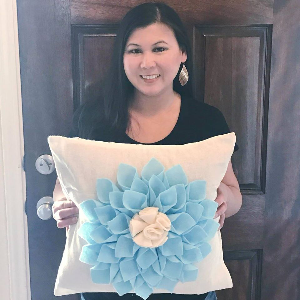 DIY Felt Flower Pillow Case Kit