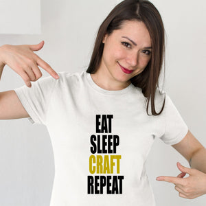 Eat Sleep Craft Repeat Graphic Tee