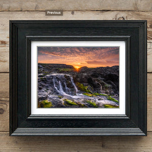 Dunseverick Waterfall Sundown