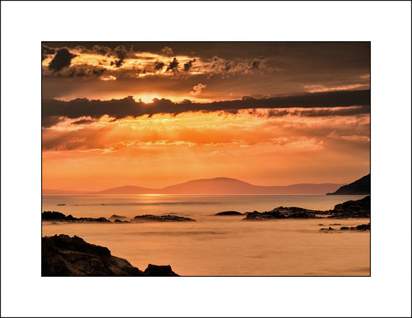 A Irish Fine Art Landscape off a stunning sunrise at Ballycastle looking onto Scotland by Irish & Scottish Landscape Photographer John Taggart