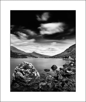Fine Art Black and White Landscape of the Black Valley Killarney