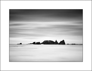 Black & White Landscape image of the Cooper Coast Waterford Ireland by Photographic Artist John Taggart