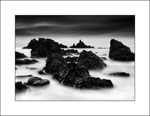 Black & White landscape of the Copper Coast Waterford Ireland by John Taggart