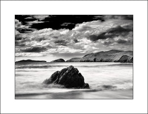 Black & White Landscape Photography of Coumeenoole Bay Co, Kerry Ireland