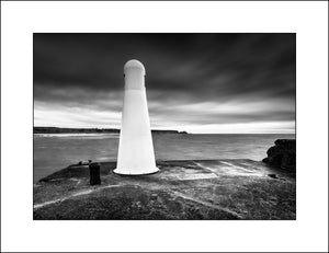 Black & White Scottish landscape Photography of Cullen Lighthouse