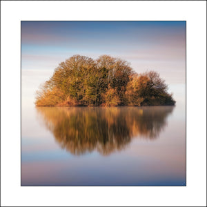 Irish Fine Art Landscape of a Little Island on Lough Neagh called Kettle Bottom in Co Antrim