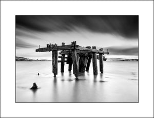 Fahan Pier Donegal in Fine Art Black & White Landscape