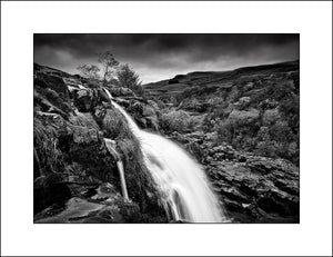 Black & White Scottish landscape Photography of The Loop Of Fintry