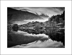 Glanmore Lough Black & White Landscape Photography in Co Kerry Ireland