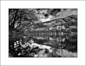 Glendalough in Black & White Irish Landscape