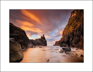 A hidden sea stack on the Giants Causeway by Irish Fine Art Landscape Photography John Taggart
