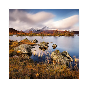 A Fine Art Landscape by Irish and Scottish Landscape Photographer John Taggart of Lochan na h Achlaise on Rannoch Moor Highlands of Scotland