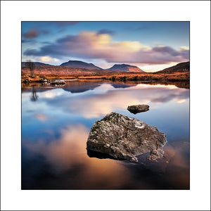Rannoch Boulder on Loch Ba by John Taggart  a Fine Art Scottish Landscape Artist
