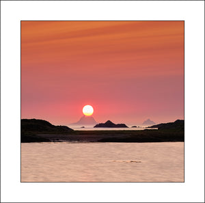 Skellig Sunset, a beautiful island in Co Kerry Ireland