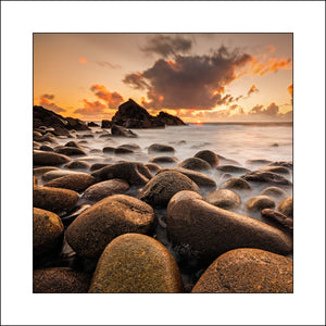Sunset Boulders in Donegal Ireland
