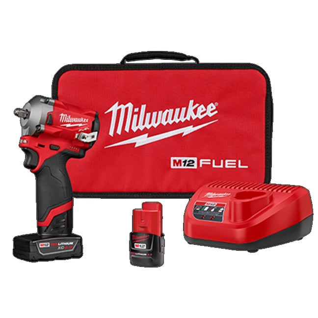 "M12 FUEL 3/8"" Stubby Impact Wrench Kit (2554-22)"