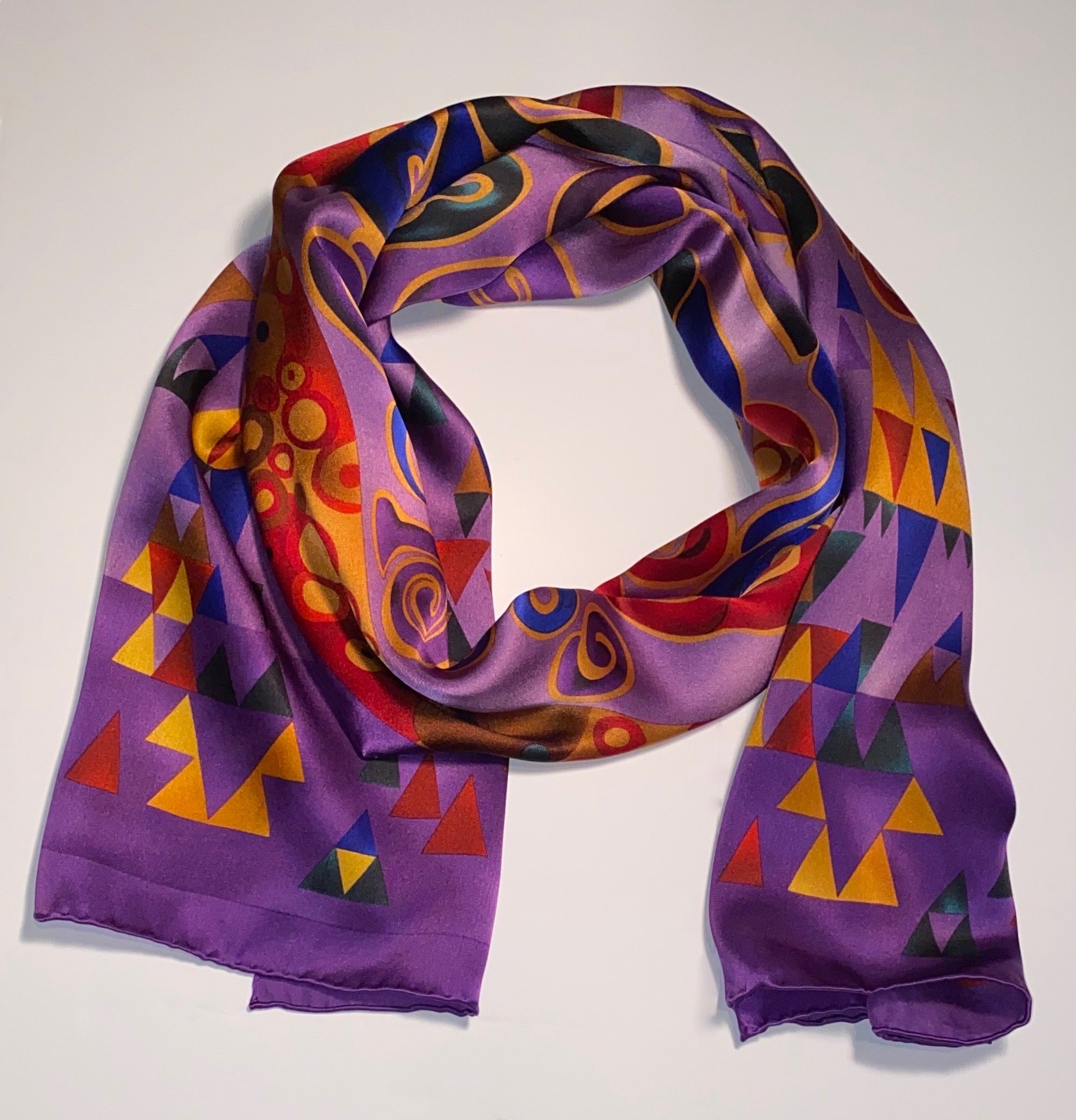 Scarf, Purple & Gold Design