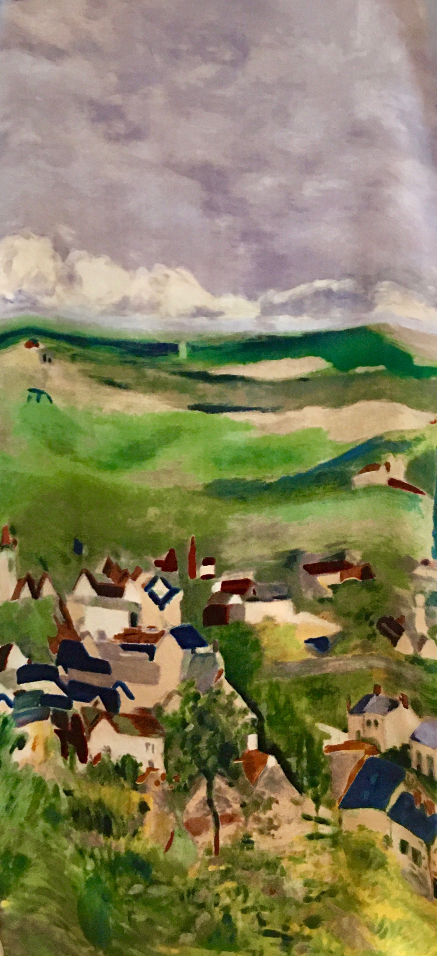 Scarf, View of Auvers