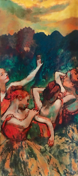 Scarf, Four Dancers