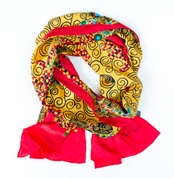 Scarf, Red & Gold Design