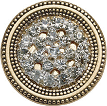 Style Magnet, Rhinestone Sparkle in Gold