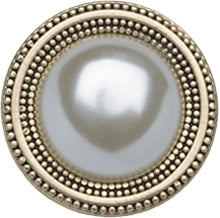 Style Magnet, White Pearl in Gold
