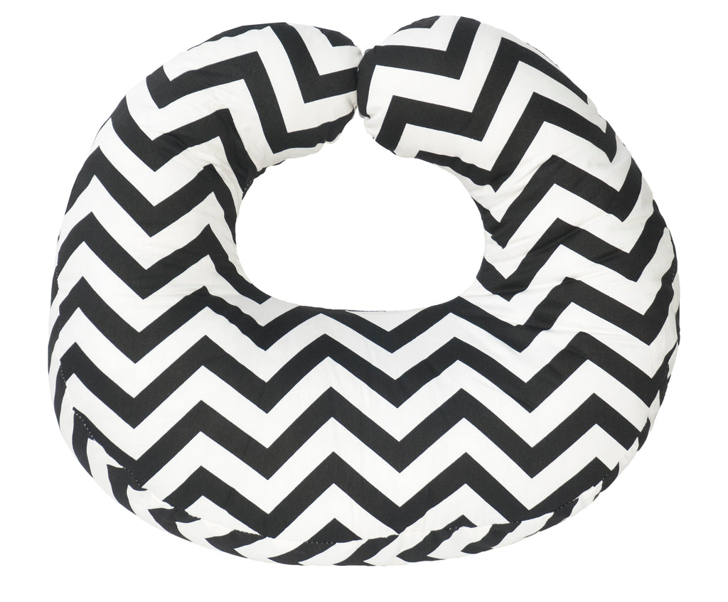 Hula Nursing Cushion - Black Chevron