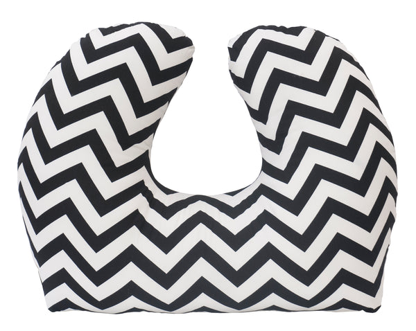 Baby Sitter Nursing and Play Cushion - Black Chevron