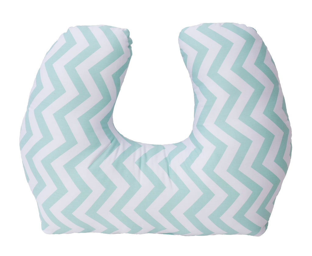 Baby Sitter Nursing and Play Cushion - Seafoam Chevron
