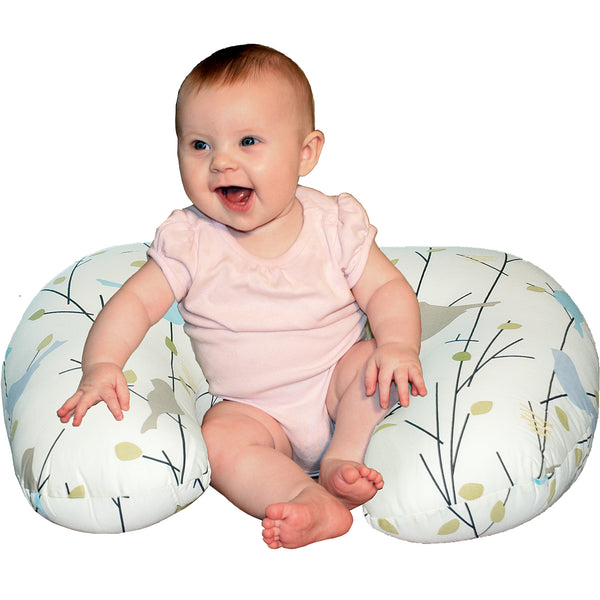 Baby Sitter Nursing and Play Cushion - Earthtone Birdies