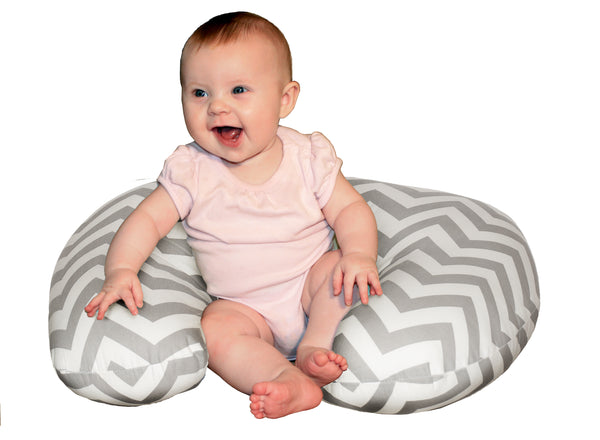 Baby Sitter Nursing and Play Cushion - Grey Chevron