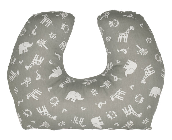 Baby Sitter Nursing and Play Cushion - Grey Jungle