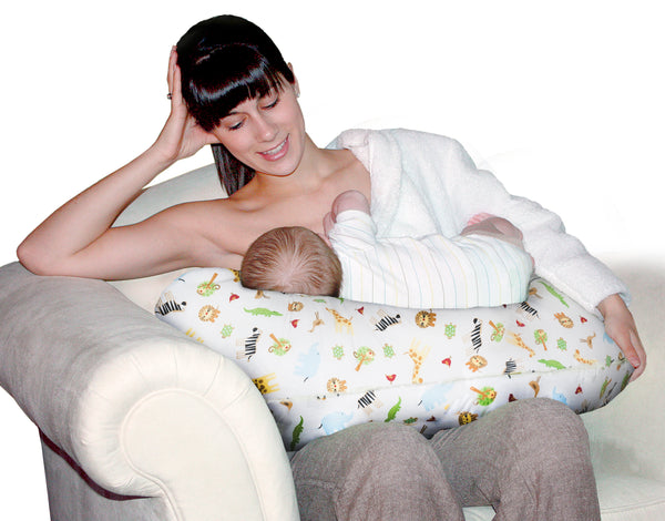 Baby Sitter Nursing and Play Cushion - White Safari