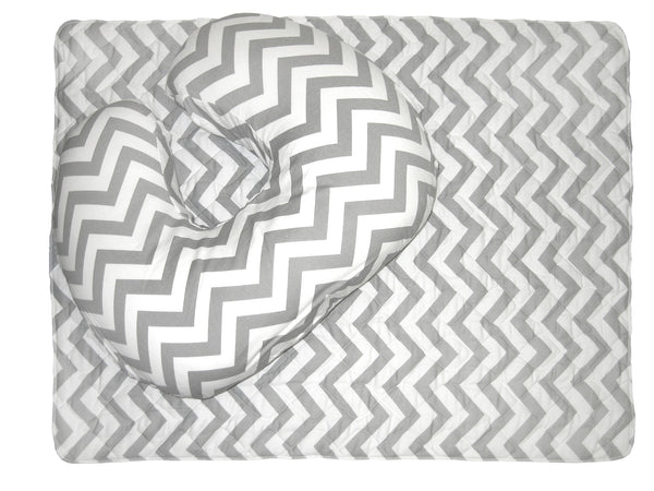 Baby Sitter Nursing Cushion with Quilted Play/Change Mat