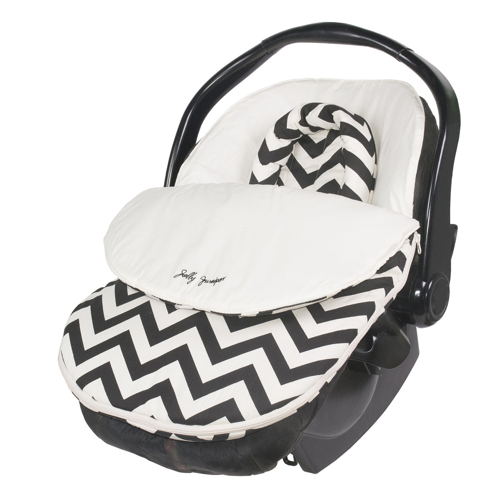 Cuddle Bag Lightweight - Black and Cream Chevron