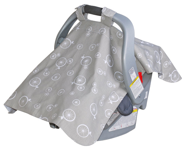 Infant Car Seat Veil - Wheelie Birds