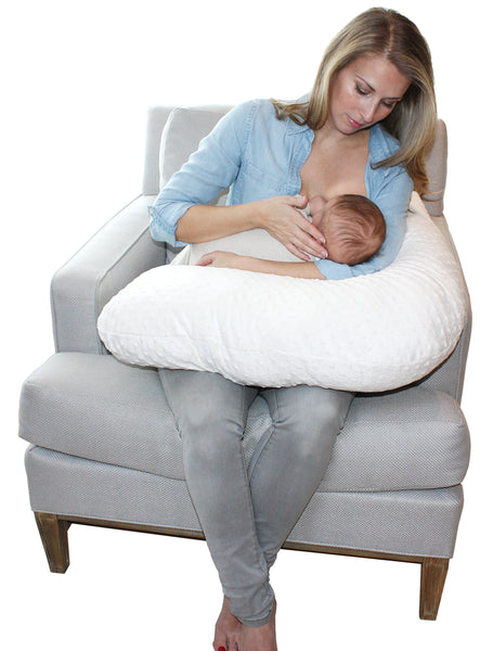 White Chenille Nursing Cushion