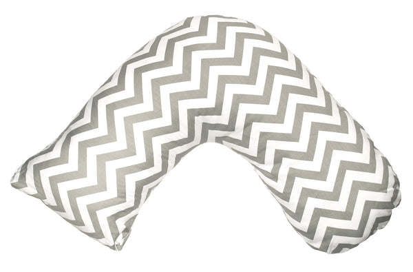 Boomerang Nursing Cushion - Grey Chevron