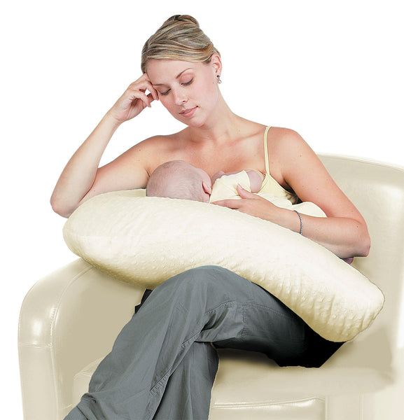 Boomerang Nursing Cushion - Cream Chenille