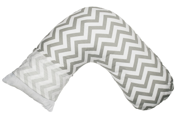 Boomerang Nursing Cushion Slip Cover - Grey Chevron