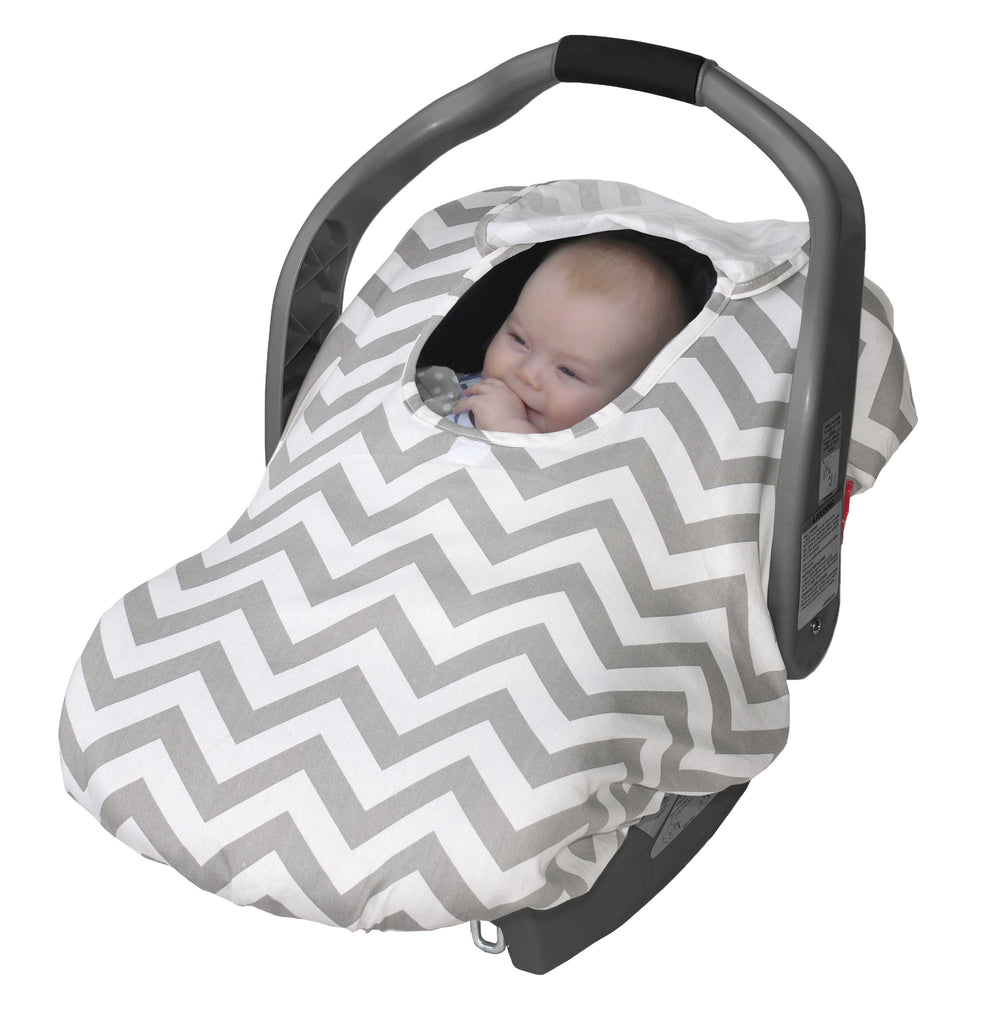 Lightweight Sneak-A-Peek- Grey Chevron