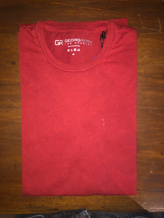 Red Crew Neck T Shirt