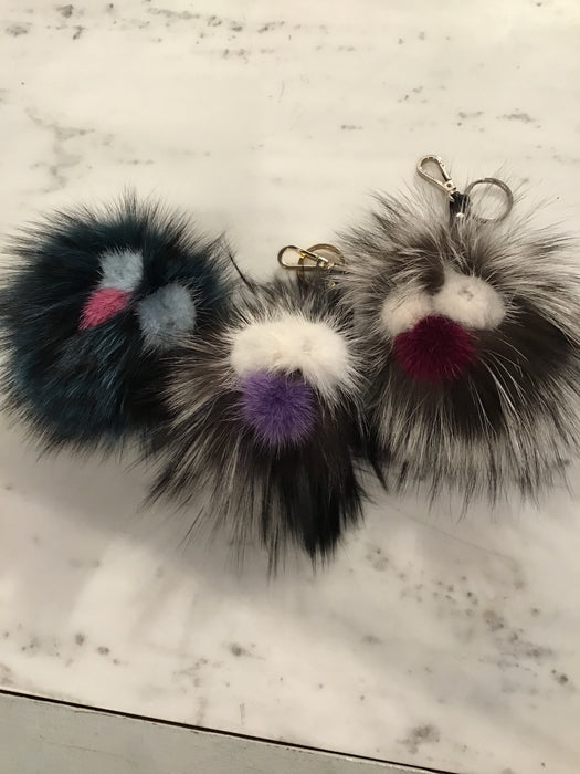 Fur Face Key Chain