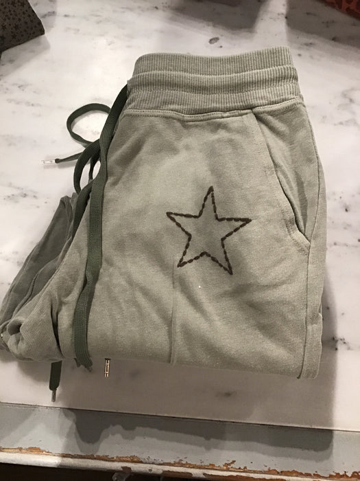 Light Green Star Joggers
