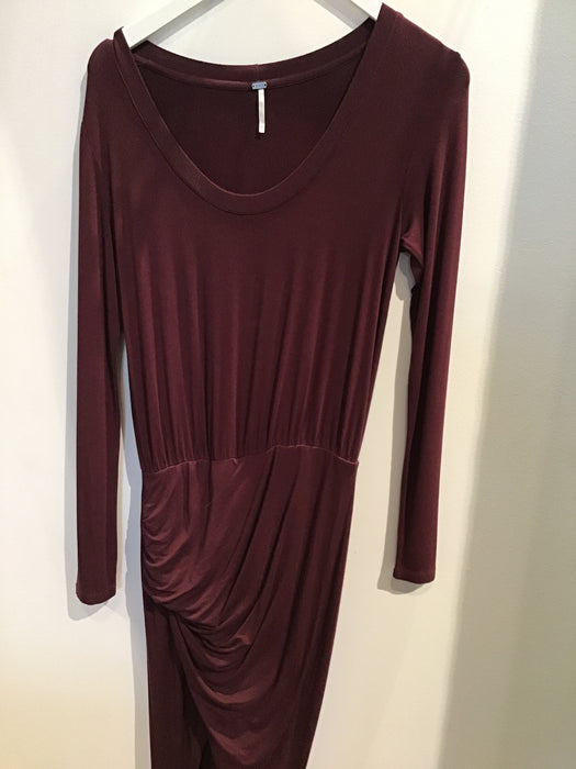 Dark Burgundy Long Sleeve Dress
