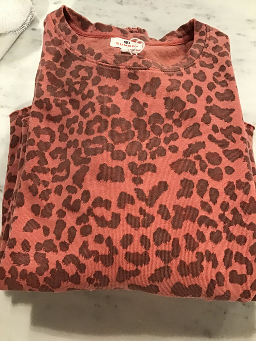 Orange Cheetah Pull Over